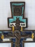 Крест в эмалях 12см.