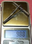 Серебряная фибула № д034