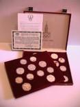 5 и 10 рублей СССР 28 серебрянных монет Олимпиада 80 в бархатном футляре
