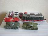 Машинки+паровоз+танк 8 штук