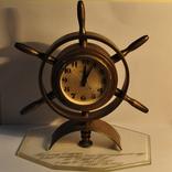 Часы Молния штурвал,бронза.Подводнику ветерану ВОВ на ходу.
