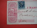 США чек 1863 год на 26,00$ + марка