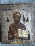 Икона Святой Николай Чудотворец на серебре