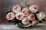 ''Розы''. 20х30 см масло холст авторская картина