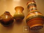 Три керамических вазы, фото №2