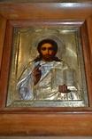 Икона в окладе серебро 84 проба позолота Господь Вседержитель