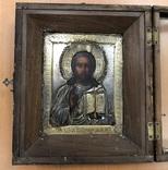 Икона Господь Вседержитель. 84 проба. 18х15 см.