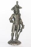 """Массивная оловянная статуэтка """"Офицер в треуголке"""", клеймо, Германия"""