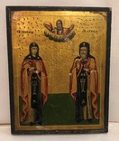 Икона Сергей и Евдокия. 25х20 см