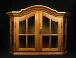 Большая, двустворчатая витрина. Винтаж. 1070 мм. Европа. (0418)
