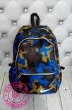 Яркий камуфляжный рюкзак Nike синий