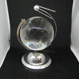 Настольный сувенир. Спутник вокруг земного шара. Космос. Стекло., фото №5