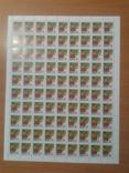 2001 марка 5-й стандарт Ж цветы Разновидность 51 марка Черная точка Полный лист