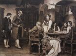 Гравюра 19 век . 35 х 25 см