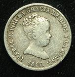 Испания 1 реал 1847 серебро photo 1