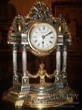 Часы каминные Италия латунь/позолота серебрение клеймо