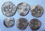 Макукин. реалы. ( 3 монеты 4 реала, 3 монеты 2 реала)