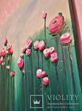 """Интерьерная картина маслом """"Розы"""" 60*60см photo 2"""