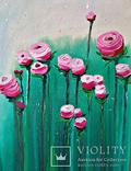 """Интерьерная картина маслом """"Розы"""" 60*60см photo 3"""