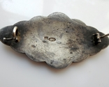 Брошь Гильоширная эмаль Серебро 88 проба photo 7