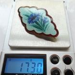 Брошь Гильоширная эмаль Серебро 88 проба photo 10