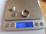 Кубачи. Набор серьги + колечко размер 19.Серебро 875 проба. СССР., фото №6