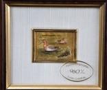Картина на золоте 2 шт . Подпись художника Сертификат Европа photo 2