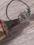 Елочная игрушка Ракета, старая, СССР, Мир photo 3