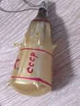 Елочная игрушка Ракета, старая, СССР, Мир photo 8