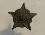 Кокарда РККА звезда плуг и молот в сиянии образца 18-22г photo 1