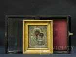 Икона .Божья матерь ,Казанских ПР . Б . Серебро проба (84)