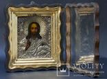 Икона Спас Вседержитель 1851 года серебро 84 проба