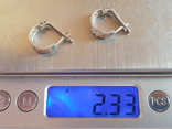 Советские серьги серебро 875 проба. СССР., фото №6