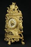 Каминные часы в латунном корпусе. Кварц. Высота 400 мм. Германия. (0510) photo 3