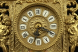 Каминные часы в латунном корпусе. Кварц. Высота 400 мм. Германия. (0510) photo 4