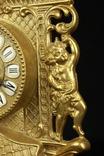 Каминные часы в латунном корпусе. Кварц. Высота 400 мм. Германия. (0510) photo 8
