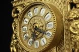 Каминные часы в латунном корпусе. Кварц. Высота 400 мм. Германия. (0510) photo 9