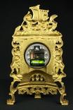 Каминные часы в латунном корпусе. Кварц. Высота 400 мм. Германия. (0510) photo 10