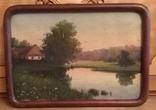 Старинная картина. Домик у пруда. Вечер. photo 4