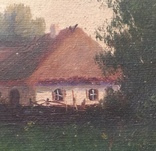 Старинная картина. Домик у пруда. Вечер. photo 7