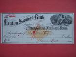 США чек 1882 год на 278,00$ конь photo 2