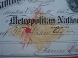 США чек 1882 год на 278,00$ конь photo 3