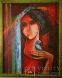 "Картина ""Девушка с попугаем"" Н.Литвин photo 1"