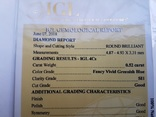 Природный бриллиант 0,52 карат сертификат photo 6