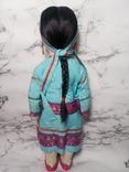 Антикварная кукла девочка-азиатка в красивом сложном наряде photo 3