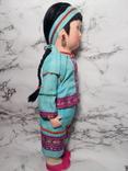 Антикварная кукла девочка-азиатка в красивом сложном наряде photo 4