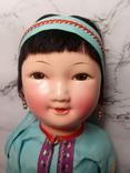 Антикварная кукла девочка-азиатка в красивом сложном наряде photo 5