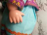 Антикварная кукла девочка-азиатка в красивом сложном наряде photo 7
