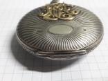 """Часы карманные серебро 84° """"Павел Бурэ"""" с золотыми вставками photo 7"""