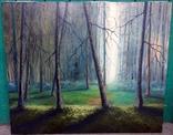 """Картина """"Сияющий лес"""" Холст масло 50х60см."""